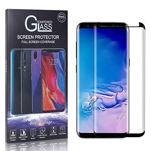 Bear Village Verre Trempé pour Galaxy S8 Plus, Dureté 9H Transparent Protection en Verre Trempé Écran pour Samsung Galaxy S8 Plus, sans Poussière, sans Bulle, 4 Pièces
