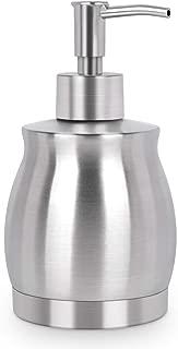 LaLa Dolce Stainless Steel Countertop Soap Dispenser Prime 390ml Liquid Bottle for Kitchen & Bathroom Hand Dish Lotion