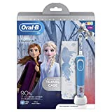 Oral-B Kids Rechargeable Electric Toothbrush, 1 x Toothbrush Handle with Disney Frozen 2 Characters, 1 x Travel Case, Ages 3+