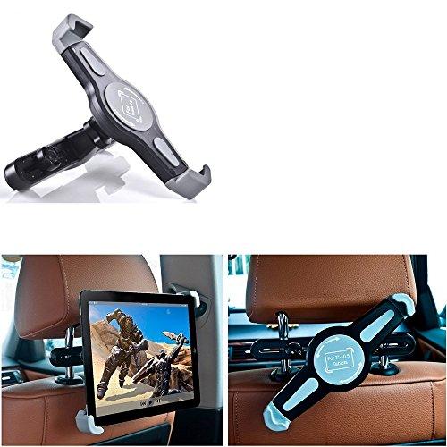 K-S-Trade Tablethalterung Kompatibel Mit Lenovo Yoga Tab 3 Pro 10 KFZ Kopfstützen Halterung 360° Auto Sitzhalterung Headrest Holder Halter Tablet PC Kopfstütze Autositz Tablet-PC Reisehalter