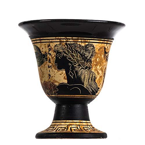 Pythagoras Tasse der Gerechtigkeit Pythagoras Fair Becher altgriechische Göttin Artemis handbemalt Keramik nutzbar