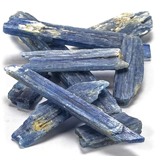 Kalifano Kyanite Blade Bundle With Healing &Amp; Calming Effects - High Energy Reiki Crystal Used For Meditation And (Information Card Included)