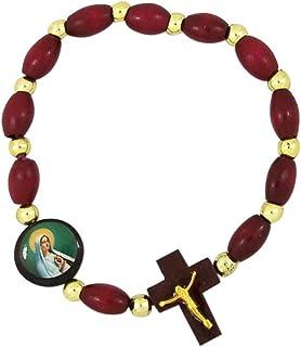 Needzo Virgin Mary Madonna Stretch Rosary Bracelet, 7 Inches