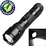 1 Light Mode Tactical Flashlight 1000 Lumen,Super Bright XML T6 Flashlight,Water Resistant Handheld Flashlight Torch for Home and Outdoor Use