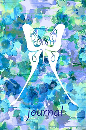 journal: 6x9 (15.24 cm x 22.86 cm) lined journal diary notebook great gift for gardeners & butterfly lovers!
