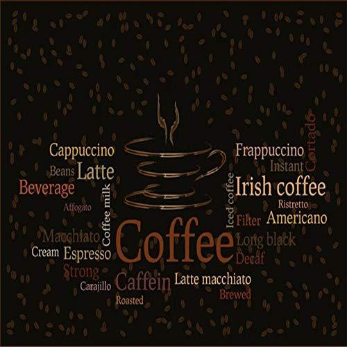 Tapeten Wandbild Hintergrundbild Fototapete Benutzerdefinierte Tapete Brief Kaffeetasse Café Wandbild Wohnkultur 3D Wohnzimmer Schlafzimmer Hintergrund Wände Wandbild 3D Wallpaper-About_300 * 210Cm_