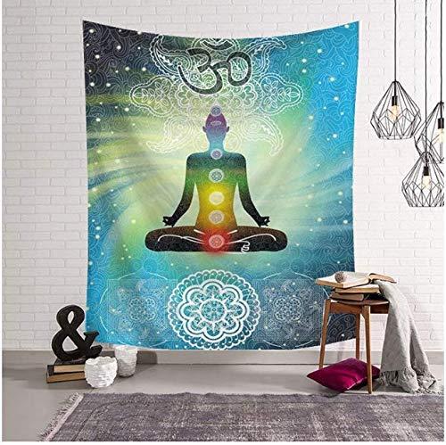 Wandteppich, Dekoration, Yoga, Dekoration, Wandbehang, Polyester, Stoff, für Haus, Spirituell, Schlafsaal, 150 x 200 cm