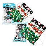 PAIDE P Mascarillas Higiénicas Estampado Navidad 10 Unidades Infantiles 10 Unidades Adultos (C7)