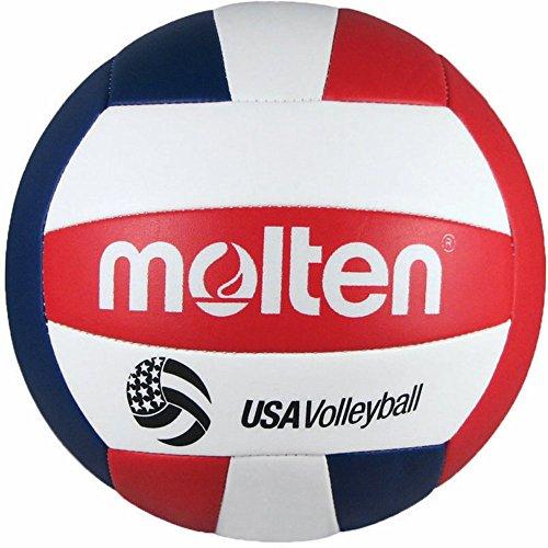 Molten Camp Recreational Volleyball, Rot/Weiß/Blau (MS500-3), offizielle Größe und Gewicht