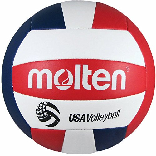 Molten Camp Recreational Volleyball, Red/White/Blue (MS500-3), Official Size and Weight