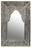 Oriente espejo espejo de pared Malik 42 cm de altura de plata | Gran espejo de...