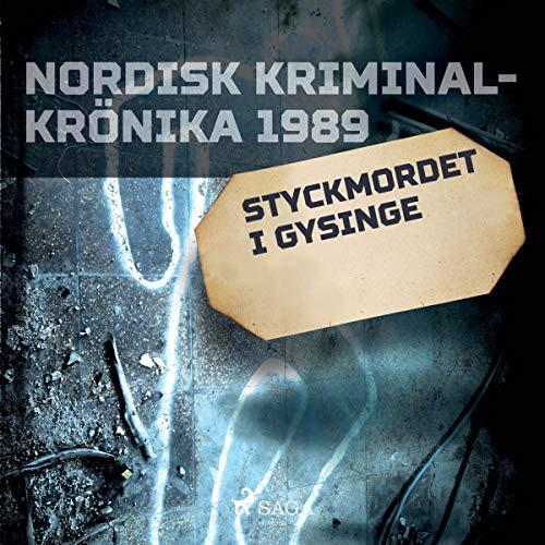 Styckmordet i Gysinge audiobook cover art