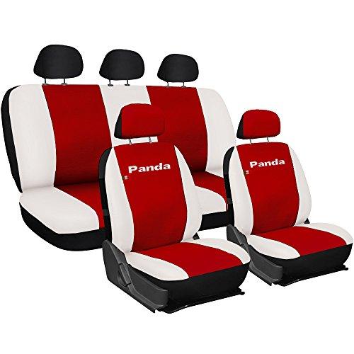 Lupex Shop Panda_EC_R.Bi Coprisedili, Rosso/Bianco