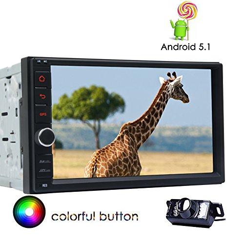 Autoradio Android 5.1 Universale 2 DIN Car Stereo 7 pollici touch screen ad alta risoluzione Quad Core NO-Car sostegno di lettore DVD di navigazione GPS Bluetooth USB SD Wifi 3G / 4G controllo del v