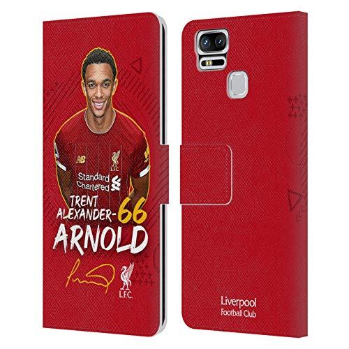 Head Case Designs Oficial Liverpool Football Club Trent Alexander-Arnold 2019/20 Primer Equipo Grupo 1 Carcasa de Cuero Tipo Libro Compatible con Zenfone 3 Zoom ZE553KL