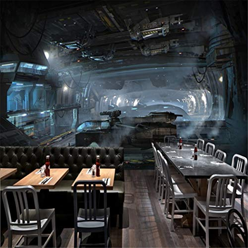 Fototapete 3D Stereo Gaming Raum Wandbild Cosmic Space Cabin Raumschiff Wandbild Restaurant Wandbild Bar Studio benutzerdefinierte HD Wallpaper