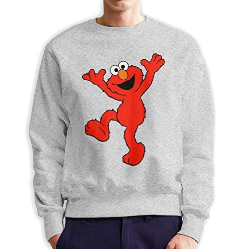 MYHL Men's Elmo's World Fashionable Casual Style Crew Neck Cotton Sweatshirt Hoodie