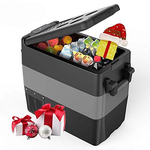 Kompressor Kühlbox Gefrierbox, 40L GS geprüfter elektrischer tragbarer Kühlschrank, -18 bis 10 ° C, mit Batteriewächter, 12 V und 230 V für Auto, LKW