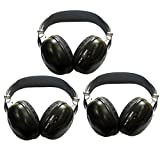 3 Pack of Two Channel Folding Universal Rear Entertainment System Infrared Headphones Wireless
