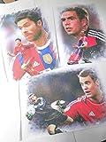 3 klasse Kunstdrucke mit FC BAYERN -STARS zum Preis von 2