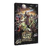 Póster de la serie de animación de Star Wars The Clone Wars temporada 5 de 40 x 60 cm, para decoración de sala de estar, dormitorio, 1 marco