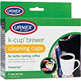 Urnex K-Cup Cleaner - 5 Cleaning Cups - for Keurig Machines Compatible with Keurig 2.0 - Removes Stains Non-Toxic