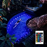 POOCCI Submersible LED Pool Lights with Remote IP68 Waterproof 17FT Hot Tub Lights 16 Color Changing Lamp Battery Operated Underwater Lights with Suction Cups for Pond Bathtub Party Shower Decor