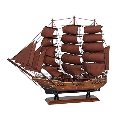 aasdf Modelo de Barco de Vela, Modelo de Barco Modelo Tridimensional Decoración Artesanías de Barcos de Madera Antiguos Colección de Kits de Montaje de Barcos clásicos de Bricolaje