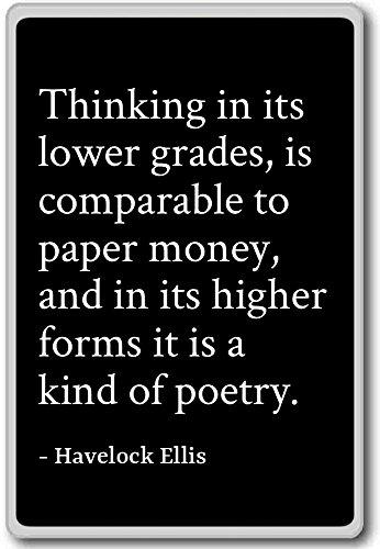 Denken in de lagere klassen, is vergelijkbaar - Havelock Ellis citeert koelkast magneet