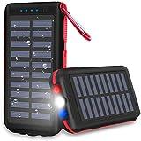 CXLiy Powerbank Solare Caricabatterie Solare Portatile 25000 mAh Grande capacità Resistente...