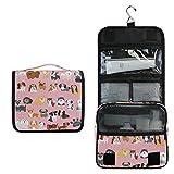 Perro Cachorro De Animal Rosa Bolsa de Aseo Colgante Organizador Cosmético de Viaje Ducha Bolsa de Baño Neceser de Viaje para Maquillaje niñas Mujeres