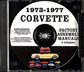 1973 1974 1975 1976 CORVETTE FACTORY ASSEMBLY INSTRUCTION MANUAL CD - INCLUDING; Base, Roadster, Sting Ray, Stingray, Coupe, Sport Coupe, T-Top, Convertible - VETTE 68