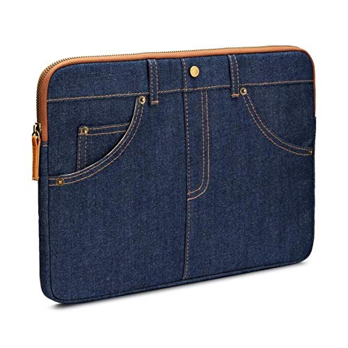 DANGAO Fashion Laptop Sleeve 13' 14' 15.6' Inch Water-Resistant Shockproof Notebook Computer Bag (Color : Blue, Size : 14 inch)