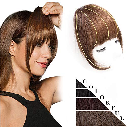 DeeThens Human Hair Clip-On Bangs
