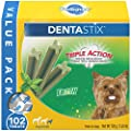 PEDIGREE DENTASTIX Dental Dog Treats for Toy/Small Dogs Fresh Flavor Dental Bones, 1.6 lb. Value Pack (102 Treats)