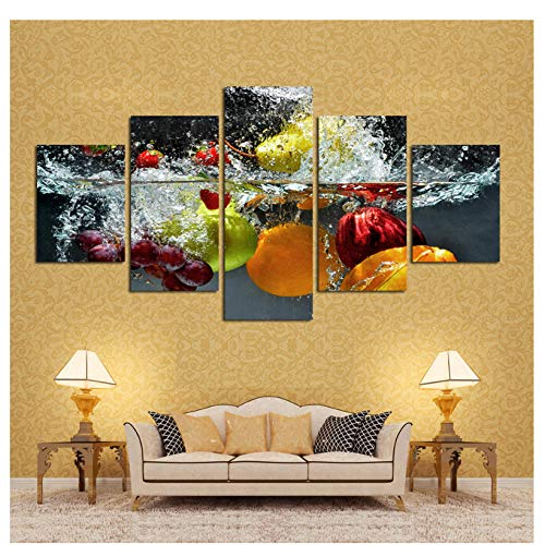 Canvas Wall Art Wall Art Painting Print On Canvas Picture Modern Fruit Pictures Hd Kitchen Home Decor/30X40Cmx2 30X60Cmx2 30X80Cmx1 No Frame