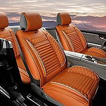 Fundas Asientos Coche Para Hyundai I20 I30 IX25 IX35 Accent Verna ELANTRA Protector Asiento Cuero Universales 5-Asiento,Súper Suave Cómodo Amarillo cayena Estándar
