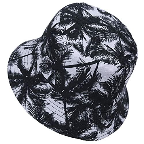 Gorro Pescador Unisex, Reversible Verano al Aire Libre Plegable Sombrero de Pescador (Negro)