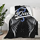 Lokapala Honoring Dad Guardian Angel Throw Blanket Quilt Bedspread Flannel Ultra Soft Microfiber Luxurious Warm Cozy Bed Camping Couch Home Decor (S 50'X40' Inch for Kid)