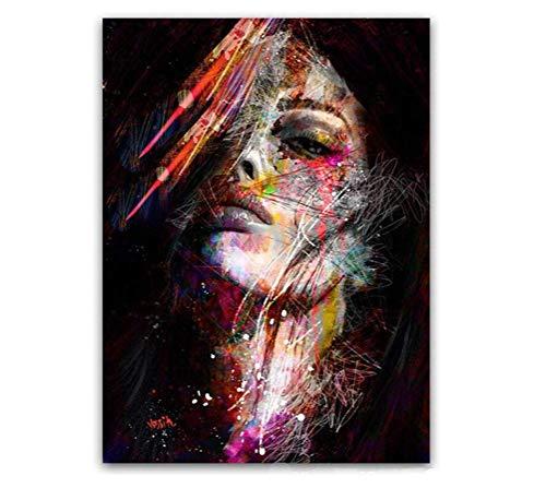 Peinture Sur Toile Pop Art Afro-Américain Affiche Black Art...