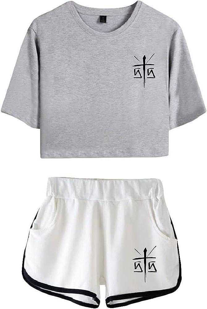 Tydres Gera MX 2 Piece Sets Casual Two Piece Suit Woman Girls Short & Tops Suit Singer Short Sleeve (GW-KB03586,XL)