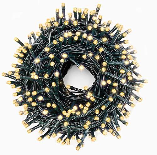 LED Weihnachten Lichterkette Tannenbaum innen/außen Warmweiß (400 LEDs)