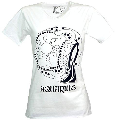 Sternzeichen T-shirt 'ACQUARIO' - bianco/Horoskop T-shirts offerta speciale bianco 44