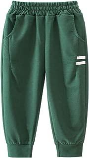 PAUBOLI Kids Jogger Pants Active Pants Cotton Tapered Sweatpants for Boys Girls 1-8T