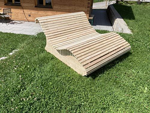 Holzliege Himmelsliege Doppelliege Schwungliege 140cm breite Lärchenholz Made in Bavaria