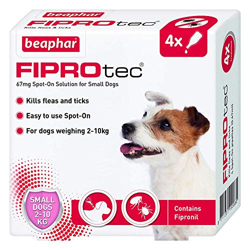 Beaphar Fiprotec Spot-On for Small Dog, 4 Pipette