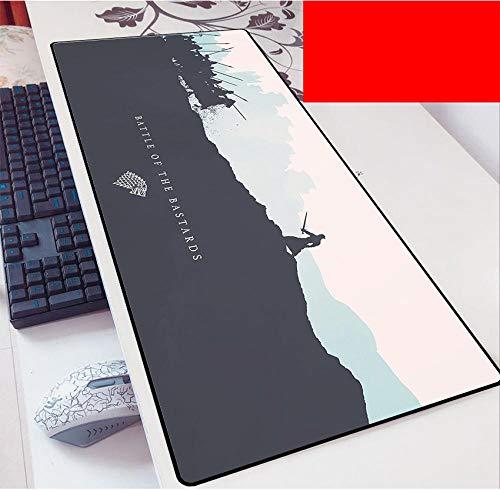 Game of Thrones Tappetino Mouse Gaming XXL per Mouse e PC, 3mm Mouse Pad Antiscivolo Fondo in Gomma con Bordi Cuciti,-B_500*1000 * 3