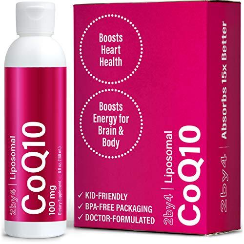 2by4 Liquid CoQ10 100 mg, Liposomal Ubiquinol Antioxidant High...