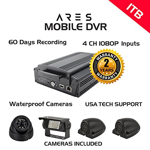 Fantastic Deal! ARES 4CH 1080P Mobile DVR (Base, 1 TB)