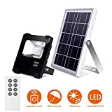 Solar Flood Lights Outdoor Remote Control Solar Power Led Lights 10W 500LM 25 LEDs IP65 Waterproof Solar Wall Lamp Floodlights for Gutter Shed,Business Sign Spotlight